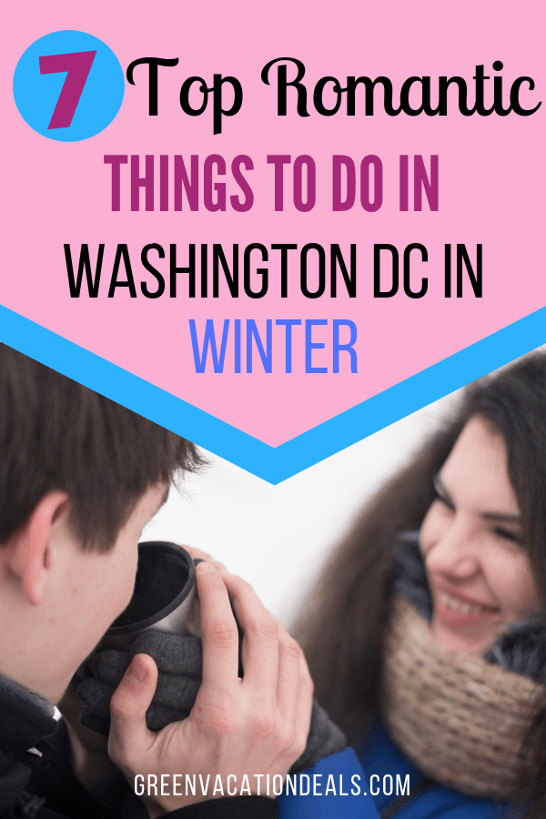 Best romantic activities & date night ideas in Washington DC in the winter. Get discounted prices for sunset cruises, ZooLights at Smithsonian's National Zoo, ice skating, couples massage, Holiday in the Park at Six Flags America mistletoe moment, Nightime Tour, etc.