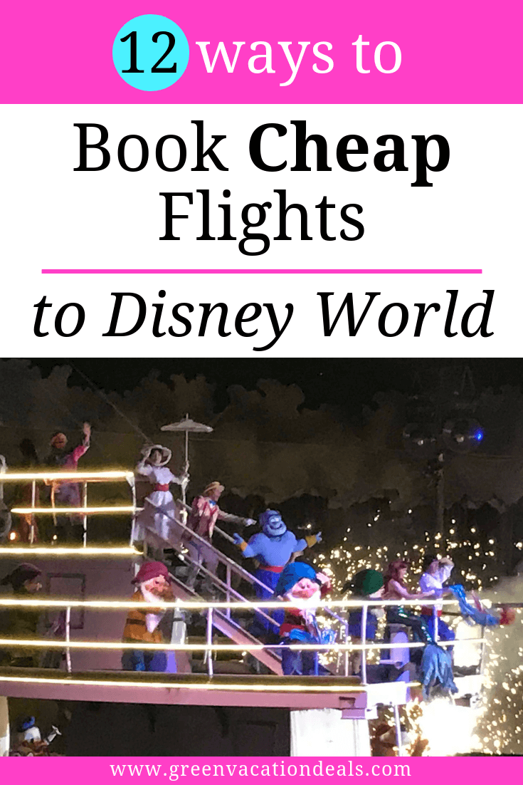 Must read Disney World travel advice for anyone flying to Orlando, Florida. 12 ways to save money on airfare. Find out my favorite tricks on saving hundreds of dollars on airfare. Find out where to look for the cheapest prices, how to get free airline gift cards (Delta, Southwest, American, etc.), coupon codes, learn the best way to book international flights to Orlando, etc.