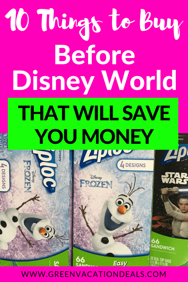 You can save money on a Disney World trip with hotel & ticket deals, but you can also save money by buying essential things before your Disney vacation! Find out what you need to buy now, from pool noodles to sunblock to ponchos to UV protection goggles to water shoes to USB chargers & more!