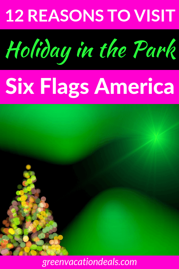 40% off tickets to Holiday in the Park at Six Flags America in Washington DC area. Enjoy holiday shows (Nativity Story, Tree Lighting, Looney Tunes, etc.), s'mores, holiday feast, thrill rides, 40-foot Christmas tree, photos with Santa, Mistletoe, special prizes, etc.