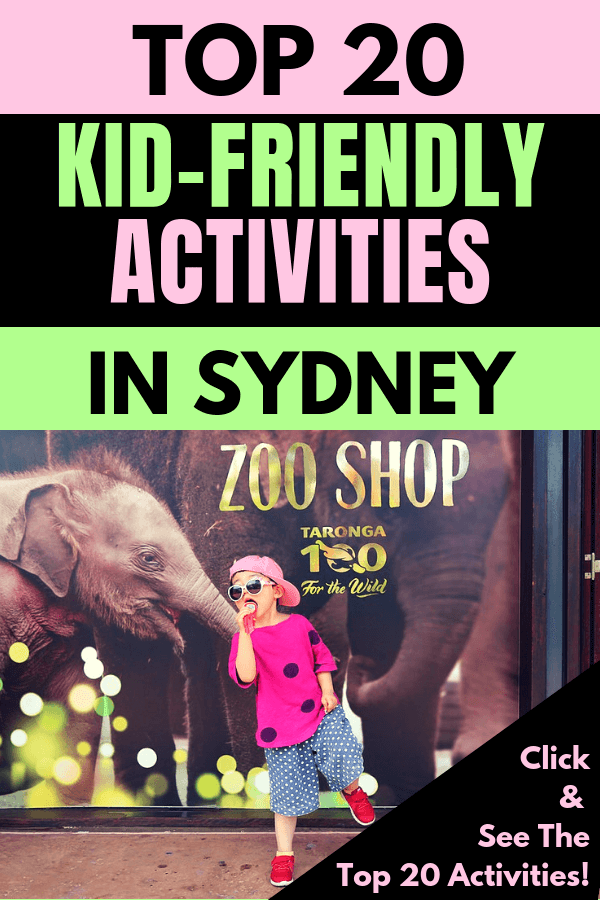 If you're visiting Sydney, New South Wales in Australia & traveling with children, then check out the 20 best kid-friendly activities in Sydney. Learn about wildlife parks, aquarium, zoo, Tower Eye, hot air balloon & sea plane rides, Luna Park amusement park, dolphin watching, ziplining, surfing lessons, dinosaur exhibit, etc.