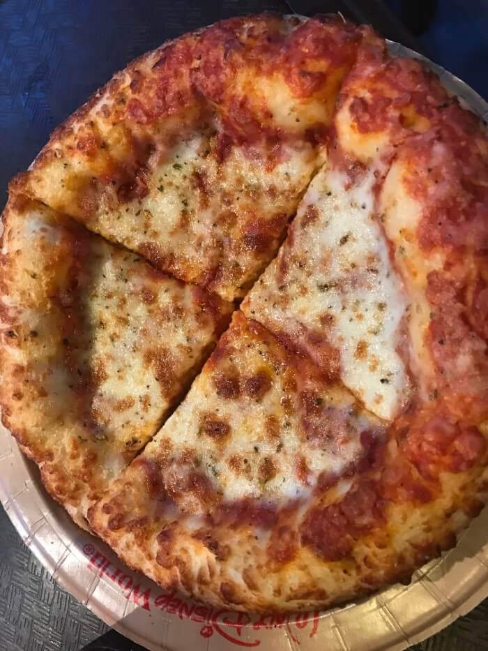 Get pizza before seeing Fantasmic at Hollywood Studios in Disney World Orlando