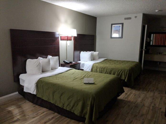 Quality Inn St. Augustine Beach Florida has huge rooms