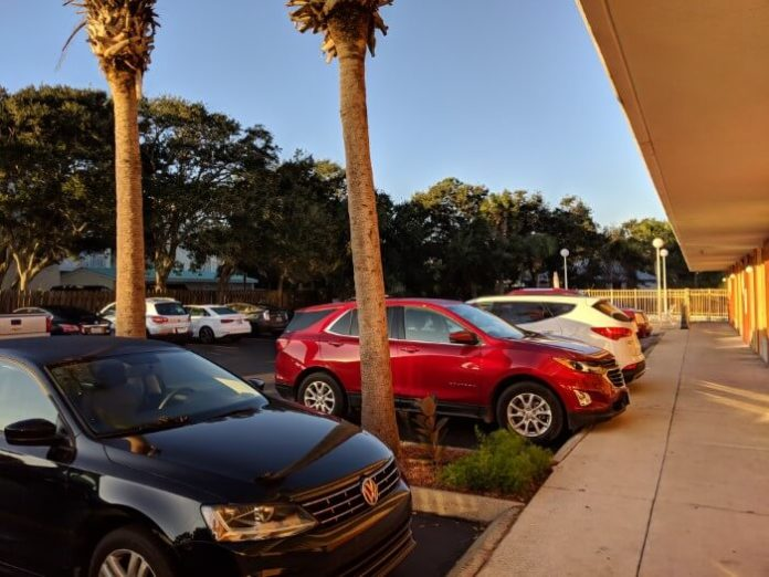St. Augustine Beach Florida is great for parking near your room