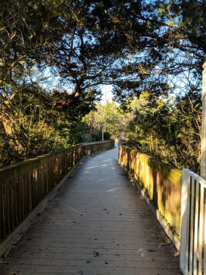 Take a boardwalk to the beach in St. Augustine at Quality Inn