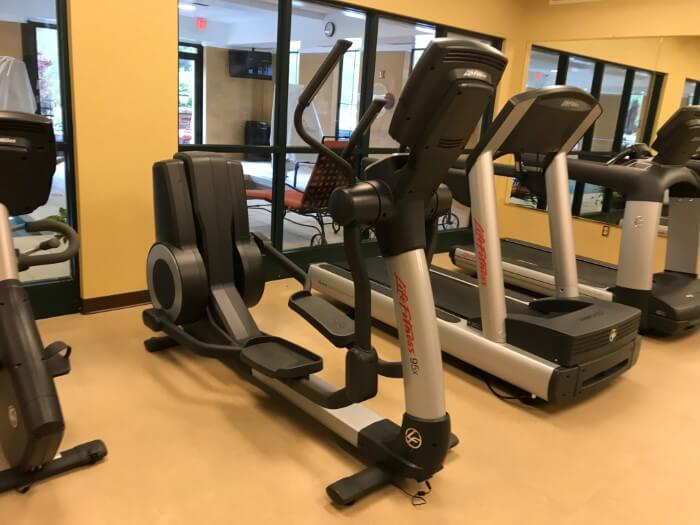 Guests can work out at fitness center at Mardi Gras hotel in Charleston WV