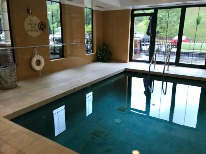 Guests at Mardi Gras Resort & Casino can swim at indoor pool