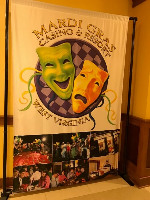Theming throughout the Mardi Grasi Casino & Resort complex in West Virginia