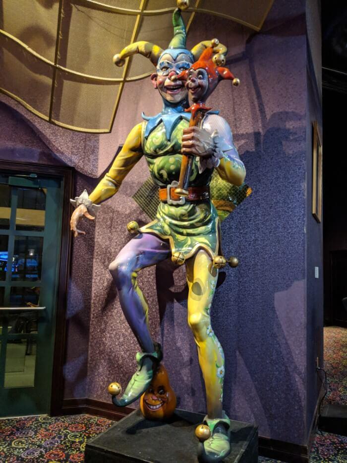 Mardi Gras Casino Resort in WV has great themed decorations