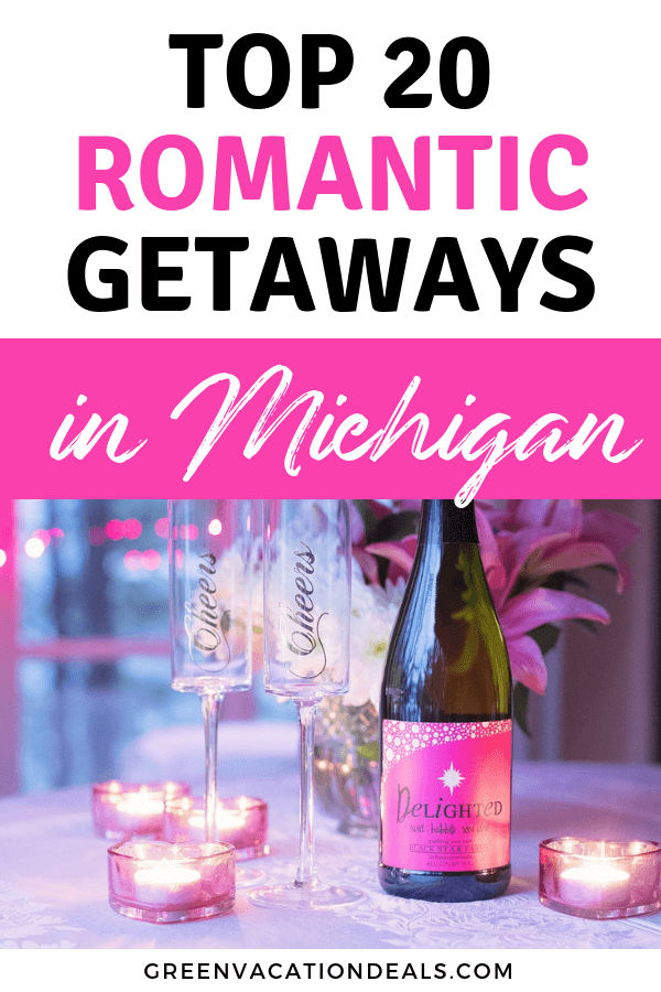 Looking for a romantic getaway in Michigan? Find out our suggestions for great romantic hotels in Traverse City, Saugatuck, Mackinac Island, Petoskey, Detroit, Rochester, Frankenmuth, Mackinaw City, Ludington, Alanson, Holland, etc.