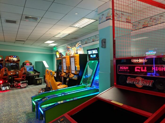 On-site Disney hotel Beach Club has arcade