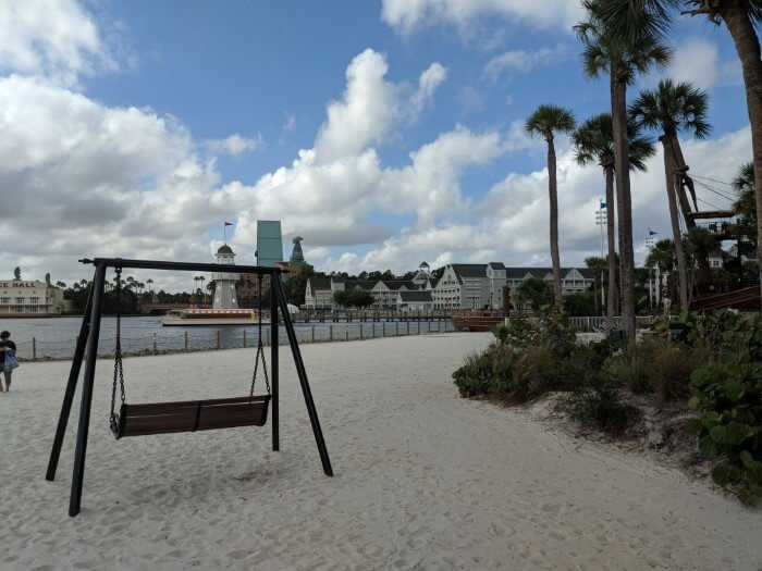 Beach area is enjoyable at Disney hotel near EPCOT