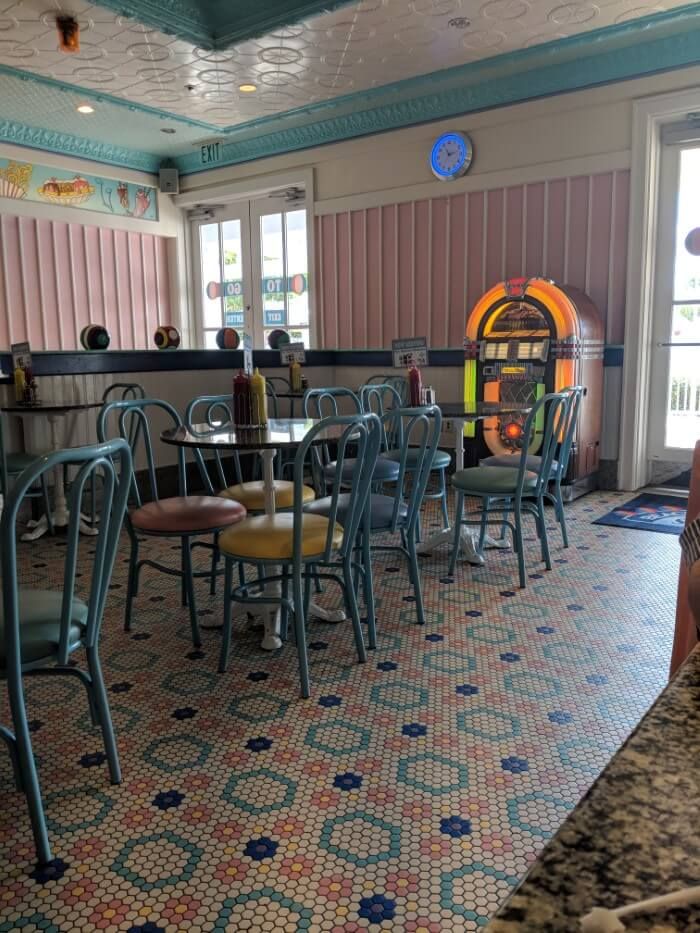 Beaches & Cream at Disney's Beach Club is old fashioned soda shop