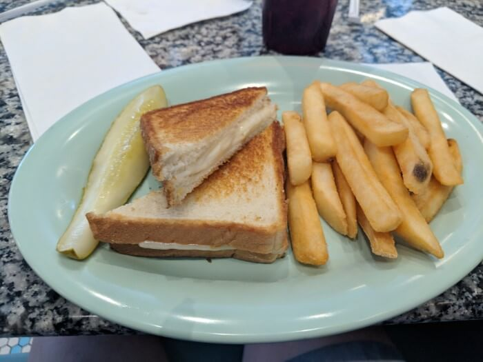 Delicious food available at Disney's Beaches & Cream restaurant
