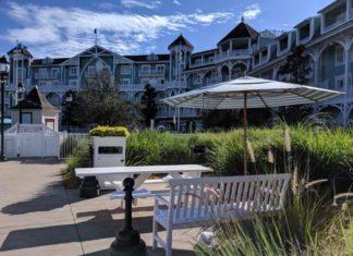 Disney's Beach Club has a beautiful relaxing exterior
