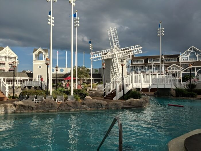 Nautical theming to pool at Disney's Beach & Yacht Club