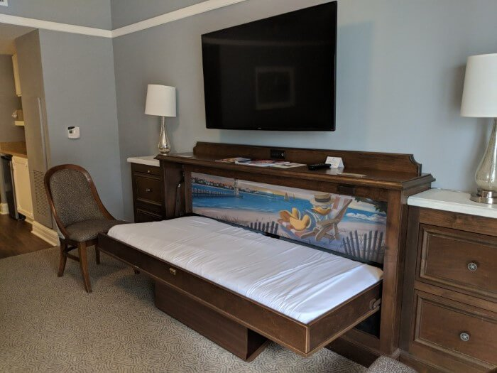 Donald Duck cute bed for kids at rooms at Disney's Beach Club