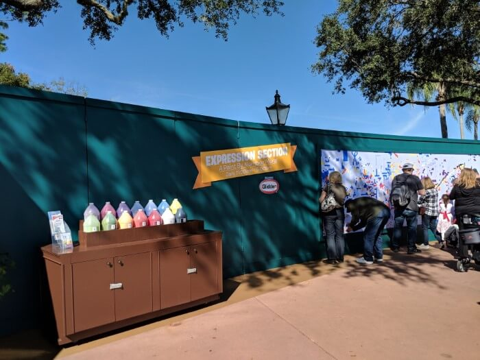 Enjoy group paint by numbers at EPCOT theme park Orlando