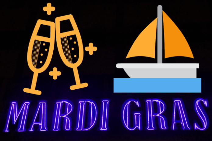 Discounted rate on Mardi Gras themed luxury yacht cruise on Lake Michigan in Chicago