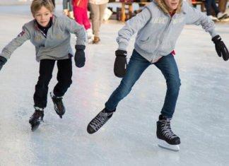 Discounted skate rentals at Downtown Des Moines skating rink