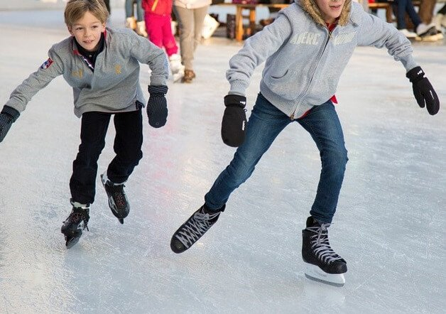 Discounted skate rentals at Downtown Des Moines skating rink