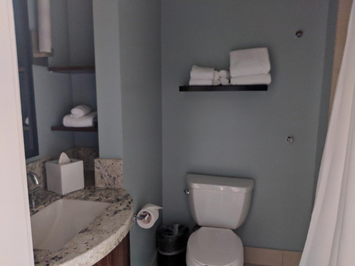 Walt Disney World's Bay Lake Tower has bathroom areas