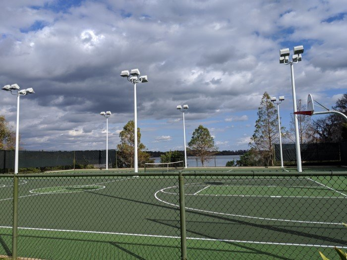 Enjoy tennis at Disney's Bay Lake Tower