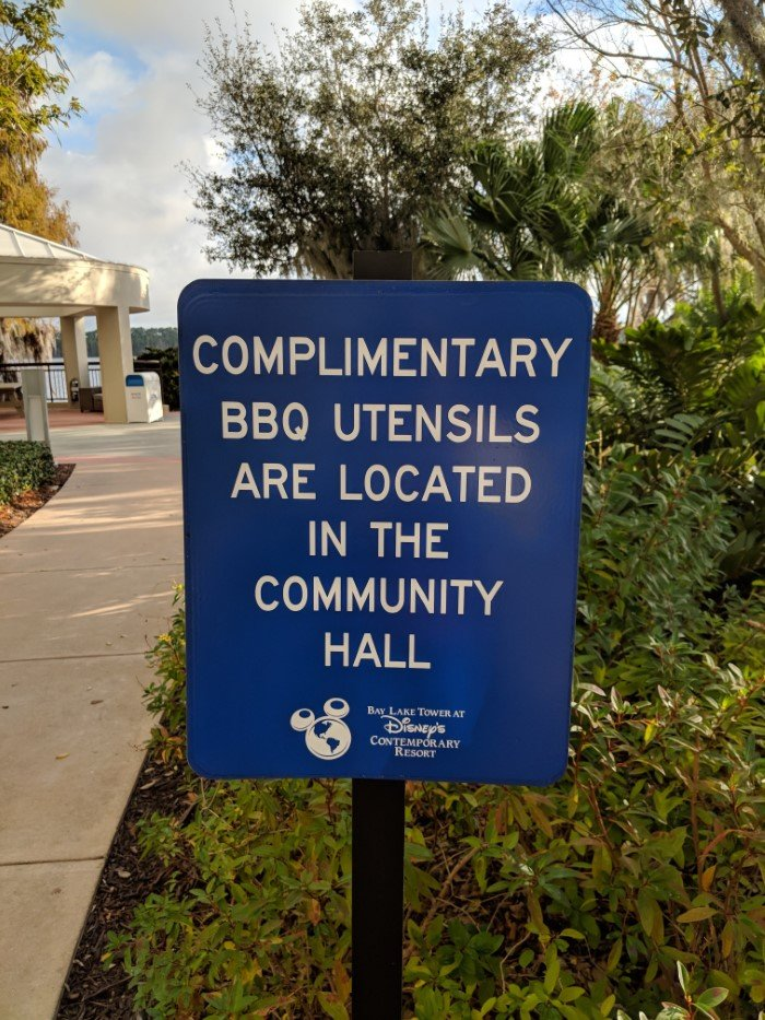 Your family can BBQ at Disney's Bay lake Tower