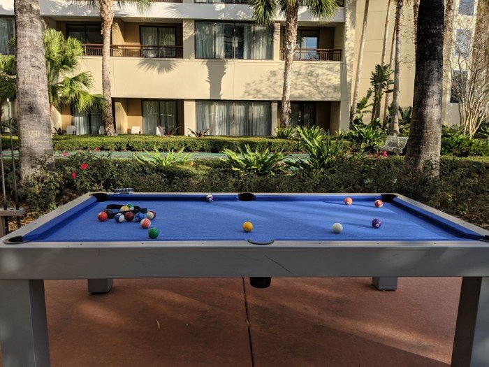Enjoy family time with pool table at Bay Lake Tower