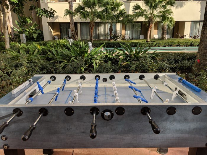 Disney World Contemporary Bay Lake Tower has foosball