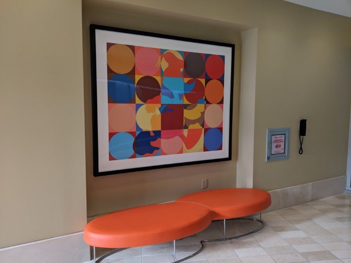 Picture in lobby of Bay Lake Tower at Disney's Contemporary Resort