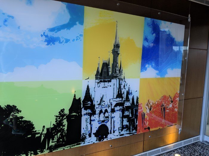 Beautiful Disney pictures all over Disney's Bay Lake Tower at Contemporary Resort