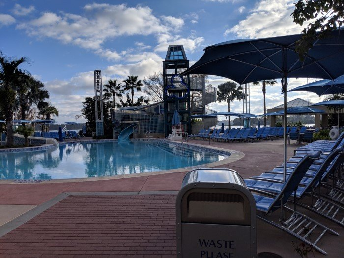 Love the water slide at Disney's Bay Lake Tower pool