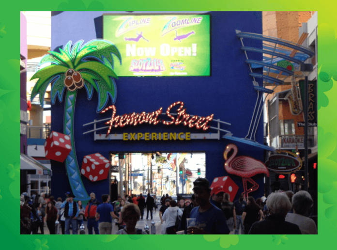 Celebrate St. Patrick's Day on Freemont St. in Las Vegas