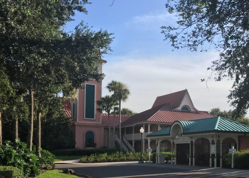 Disney Caribbean Beach Resort has bus stops to Disney World outside your hotel room