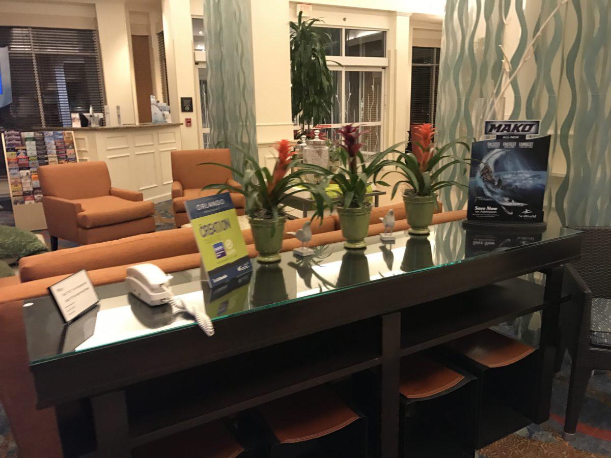 The employees at Hilton Garden Inn Orlando Florida by SeaWorld are very friendly & helpful.