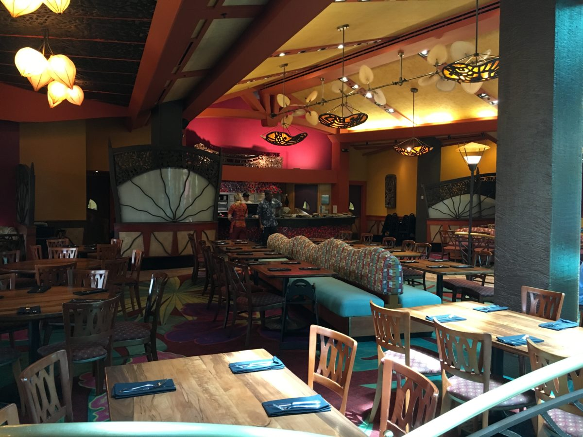 Dining options at Disney's Polynesian Village Resort in Orlando Florida