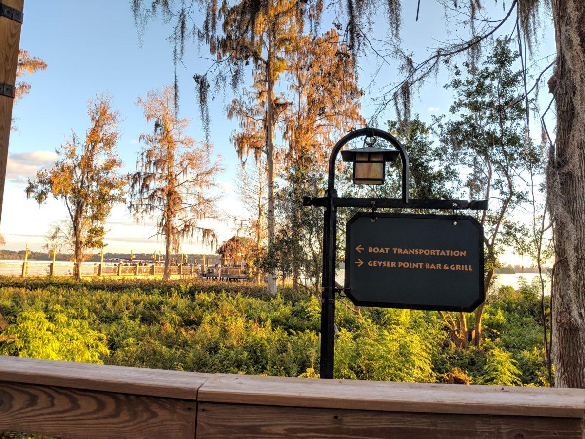 Disney's Wilderness Lodge has boat transportation to Disney World in Orlando