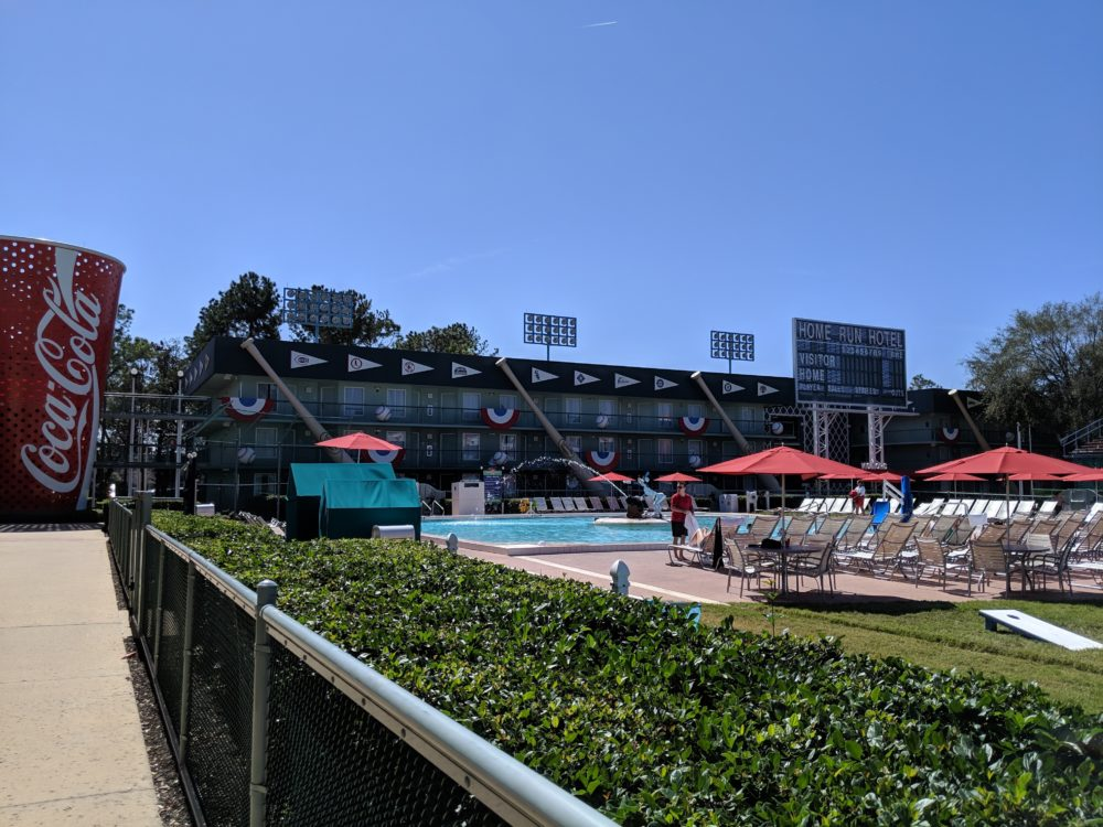 What sections of Disney's All Star Sports Resort in Disney World have pools