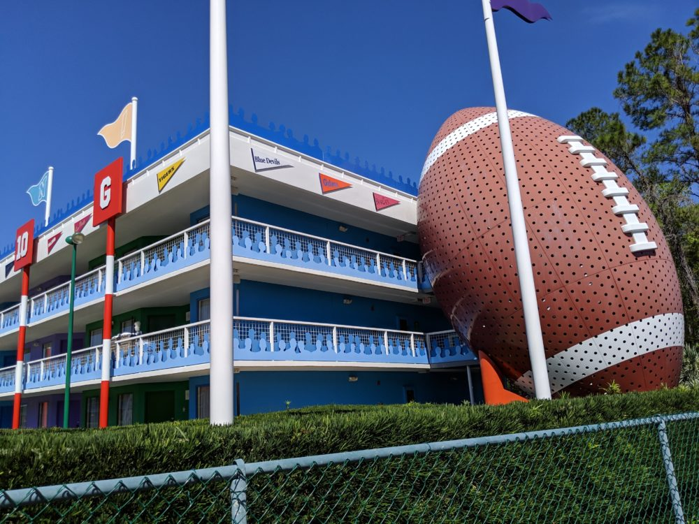 Orlando Florida family hotel with football theming at Disney World