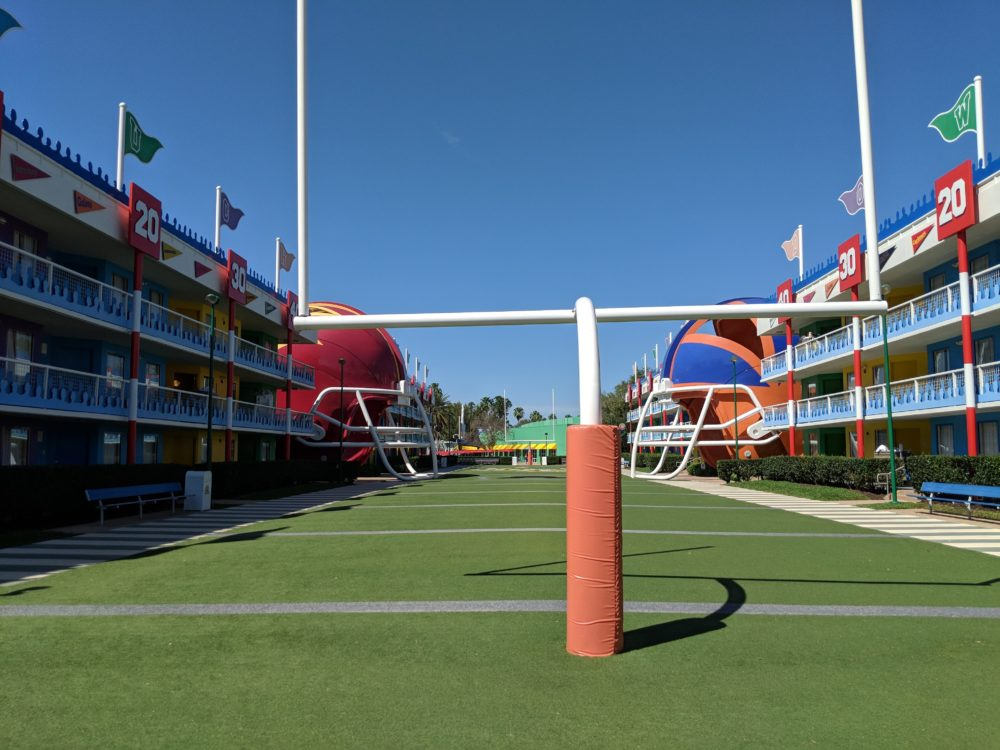Why we love the football section of Disney's All Star Sports Resort