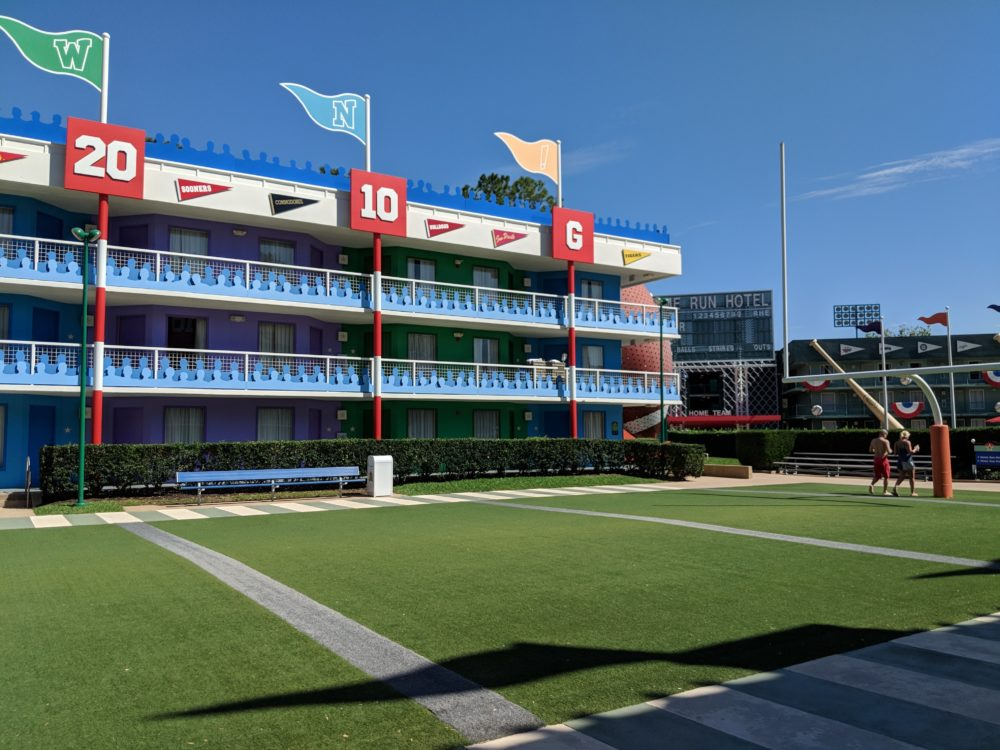 Is the football section of Disney's All Star Sports hotel worth the extra cost?