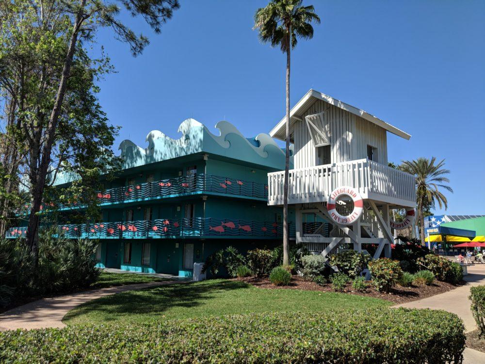 Surfing buildings in Walt Disney World Resort All Star Sports hotel
