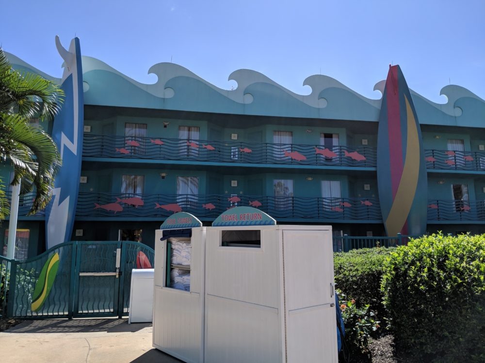 Aquatic & fish theming make surfing part of All Star Sports great for non-sports fans