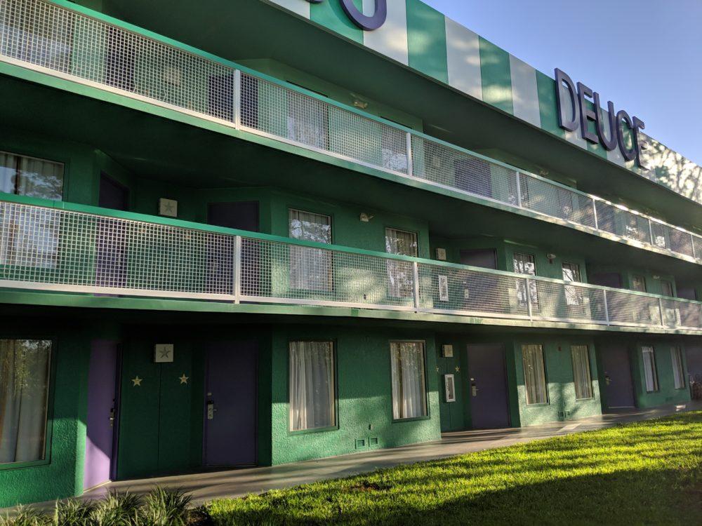Tennis themed buildings in All Star Sports Resort in Walt Disney World in Orlando