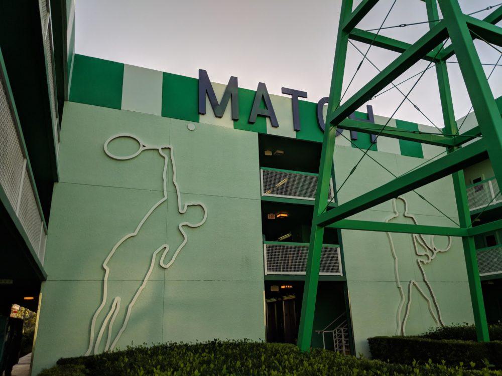 Tennis part of Disney value hotel All Star Sports Resort