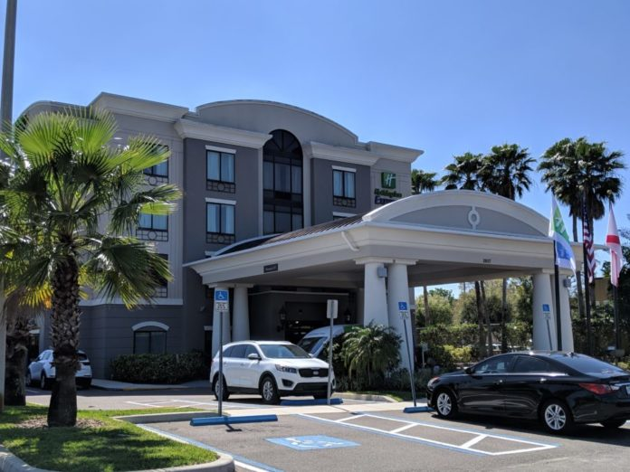 Free parking is a perk of Holiday Inn Express & Suites Tampa USF Busch Gardens, Tampa