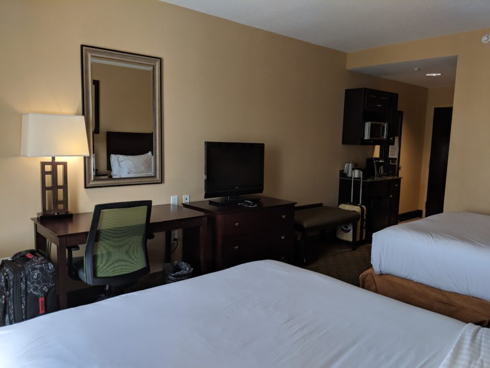 Busch Gardens Tampa Bay partner Holiday Inn Express has big rooms