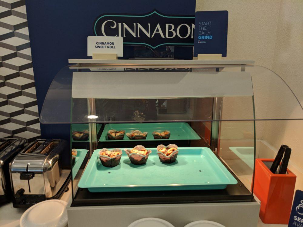 Enjoy delicious Cinnabon sweet rolls at Holiday Inn Busch Gardens Tampa Florida