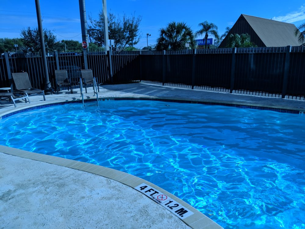 Cool off for Tampa Florida heat with pool at Holiday Inn Busch Gardens